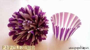 flores papel cupcake de papelisimo